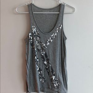 DKNY Gray Tank with Sequin Detail